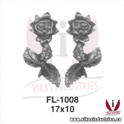wrought iron leaves flowers