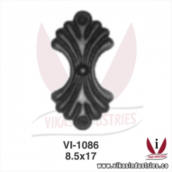 <p>wrought iron leaves flowers</p>